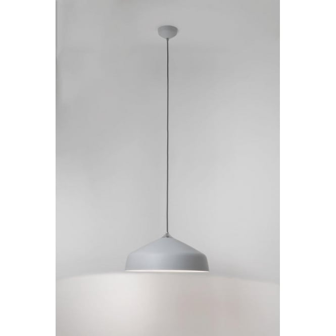 Astro Lighting Ginestra 400 Single Light Ceiling Pendant In Light Grey Finish