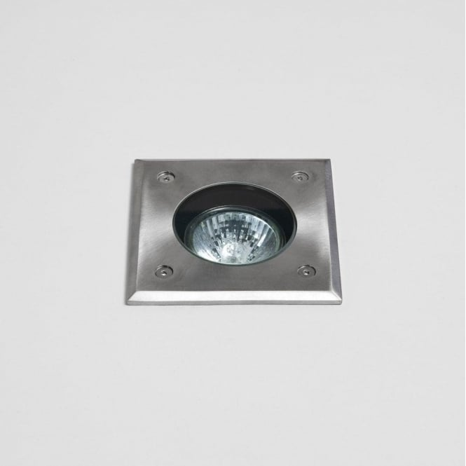 Astro Lighting Gramos Square Single Light Recessed Exterior Ground Light In Stainless Steel Finish