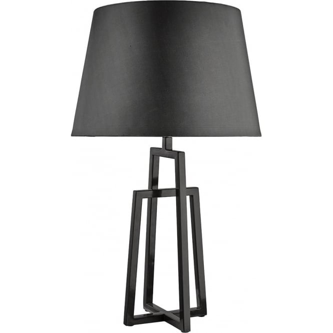 Searchlight Lighting Grey Crossed Table Lamp With Matching