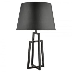 Grey Crossed Table Lamp with Matching Shade