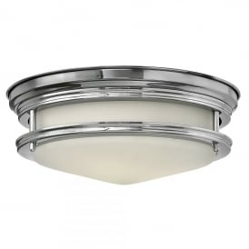 Hadley 2 Light Bathroom Flush Ceiling Fitting in Polished Chrome Finish