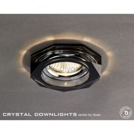 Halo Cluster Recessed Black Crystal Hexagonal Downlight Fascia Only