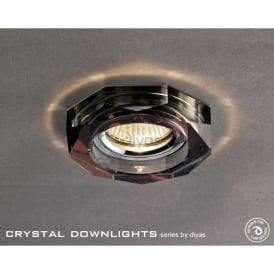 Halo Cluster Recessed Clear And Dark Purple Crystal Hexagonal Downlight Fascia Only