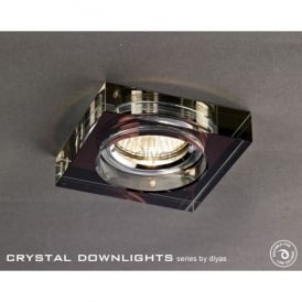 Halo Cluster Recessed Clear And Dark Purple Crystal Square Downlight Fascia Only
