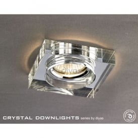 Halo Cluster Recessed Clear Crystal Square Downlight Fascia Only