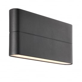 Hanford 2 LED Outdoor Wall Light in Textured Black Finish and Frosted Acrylic