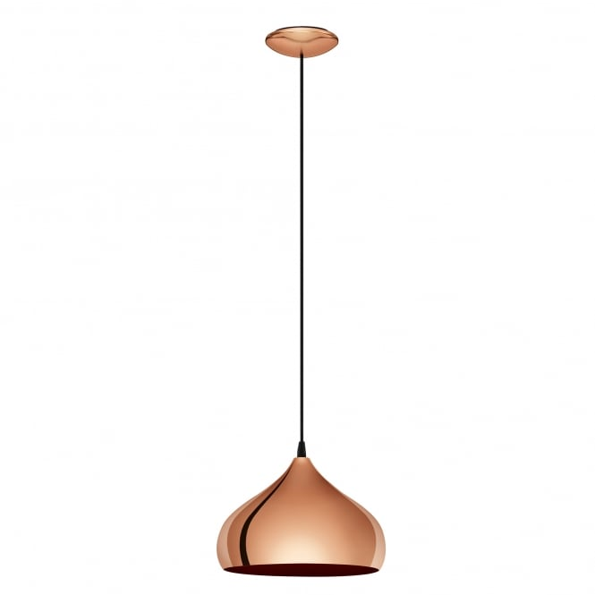 Ceiling Lights In Copper : Eglo lighting hapton single light ceiling pendant in