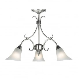 Hardwick 3 Light Ceiling Fitting In Antique Silver Finish