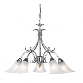 Hardwick 5 Light Ceiling Fitting In Antique Silver Finish