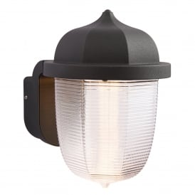 Endon Lighting Heath Outdoor Single LED Wall Fitting in Textured Black Finish with Frosted Acrylic