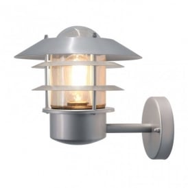Helsingor Single Light Outdoor Wall Lantern with a Silver Finish