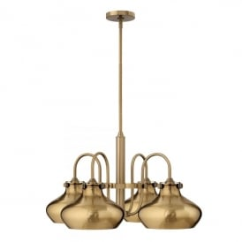 Hinkley Congress 4 Light Ceiling Pendant In Brushed Caramel Finish And Metal Shade