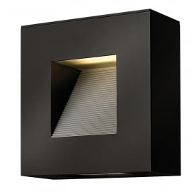 Hinkley Luna Small LED Outdoor Wall Fitting In Satin Black Finish