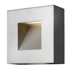 Hinkley Luna Small LED Outdoor Wall Fitting In Titanium Finish