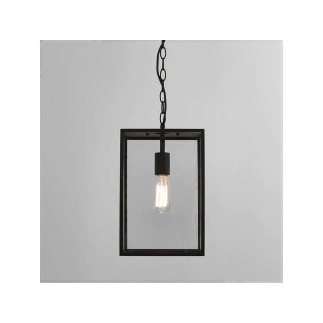Astro Lighting Homefield 360 Single Light Ceiling Pendant in Black Finish with Clear Glass