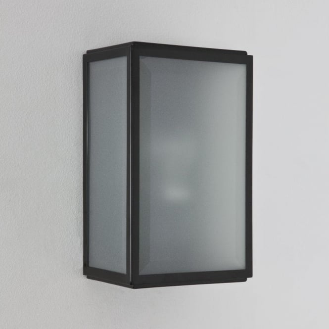 Astro Lighting Homefield Single Light Outdoor Wall Fitting In Black Finish With PIR Sensor