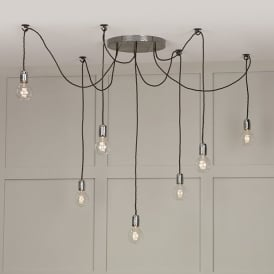 Huckleberry 7 Light Ceiling Pendant In Lead Finish