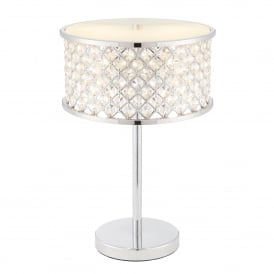 Hudson 2 Light Table Lamp in Polished Chrome Finish