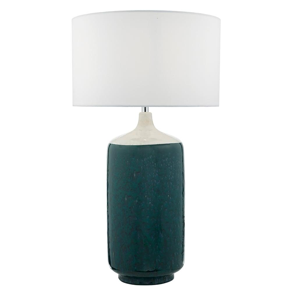 Dar Lighting Hulda Single Light Ceramic Lamp Base Only In