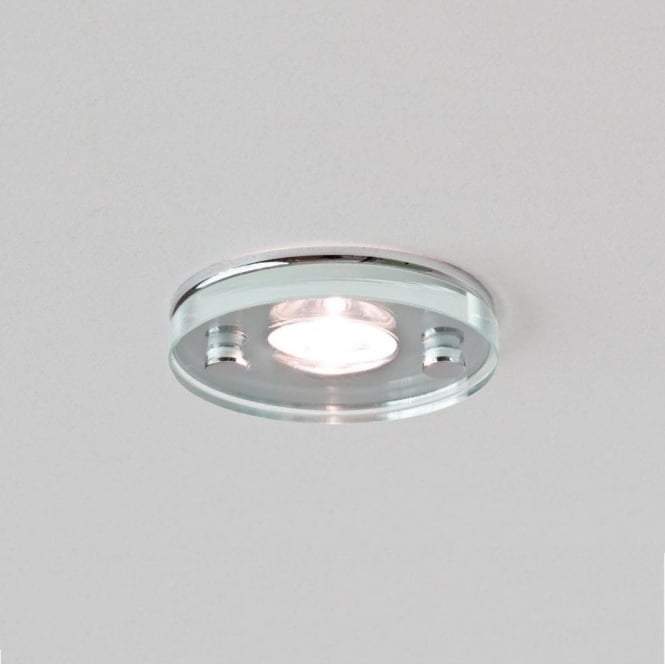 Astro Lighting Ice Single Light LED Bathroom Downlight In Polished Chrome And Clear Glass Finish