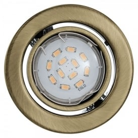 Igoa Set of 3 LED Recessed Ceiling Downlights In Bronze Finish With Adjustable Lamp Head