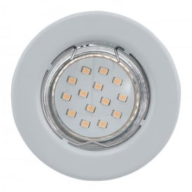 Igoa Single Light 3w LED Recessed Ceiling Downlight In White Finish With Adjustable Lamp Head