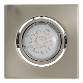 Igoa Single Light LED Recessed Ceiling Fitting In Satin Nickel Finish