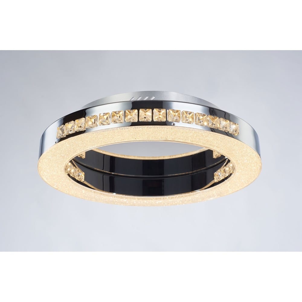 illuminati cerchio round single light led dimmable flush ceiling