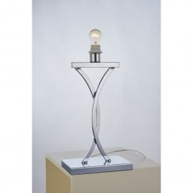 Claire Single Light Table Lamp in Polished Chrome Finish
