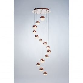 Eclipse 14 LED Dimmable Ceiling Pendant Fitting in Copper Finish