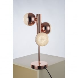 Eclipse 3 LED Table Lamp in Copper Finish
