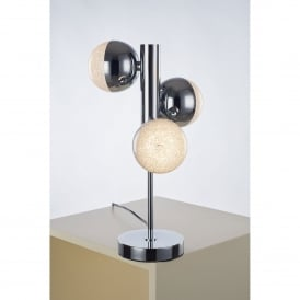 Eclipse 3 Light LED Table Lamp in Polished Chrome Finish
