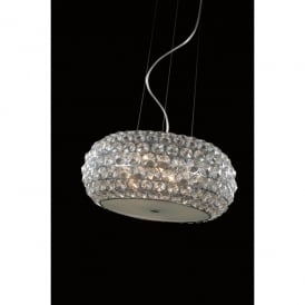 Star 3 Light Large Ceiling Pendant In Polished Chrome And Clear Crystal Finish