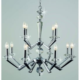 Belda 12 Light Ceiling Fitting in Polished Chrome Finish