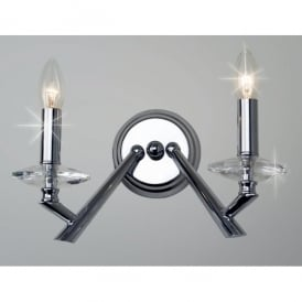 Belda 2 Light Wall Fitting in Polished Chrome Finish