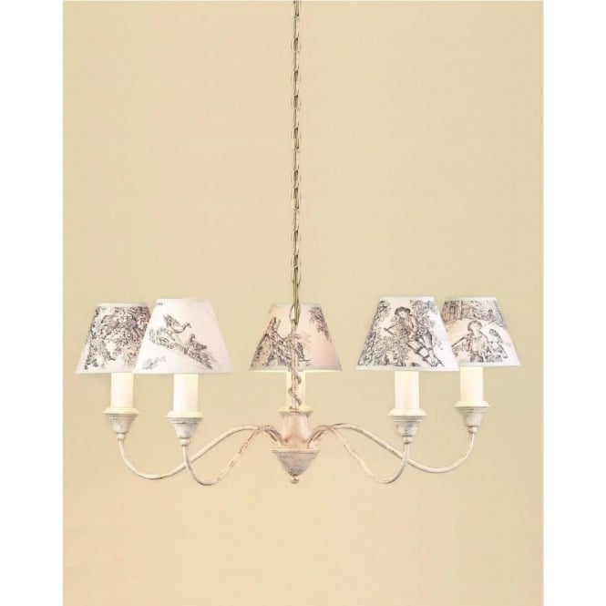 Impex Lighting Caravalle Cream 5 Light Fitting With Or Without Shades