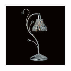 CE00031/TL/CH Strasbourg Lead Crystal And Chrome Single Table Lamp