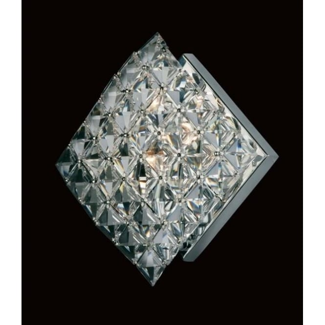 Impex Lighting Diamond Lead Crystal And Chrome Wall Light