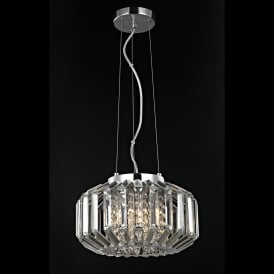 Juliet 4 Light Crystal Celing Pendant in Polished Chrome with Crystal Decoration