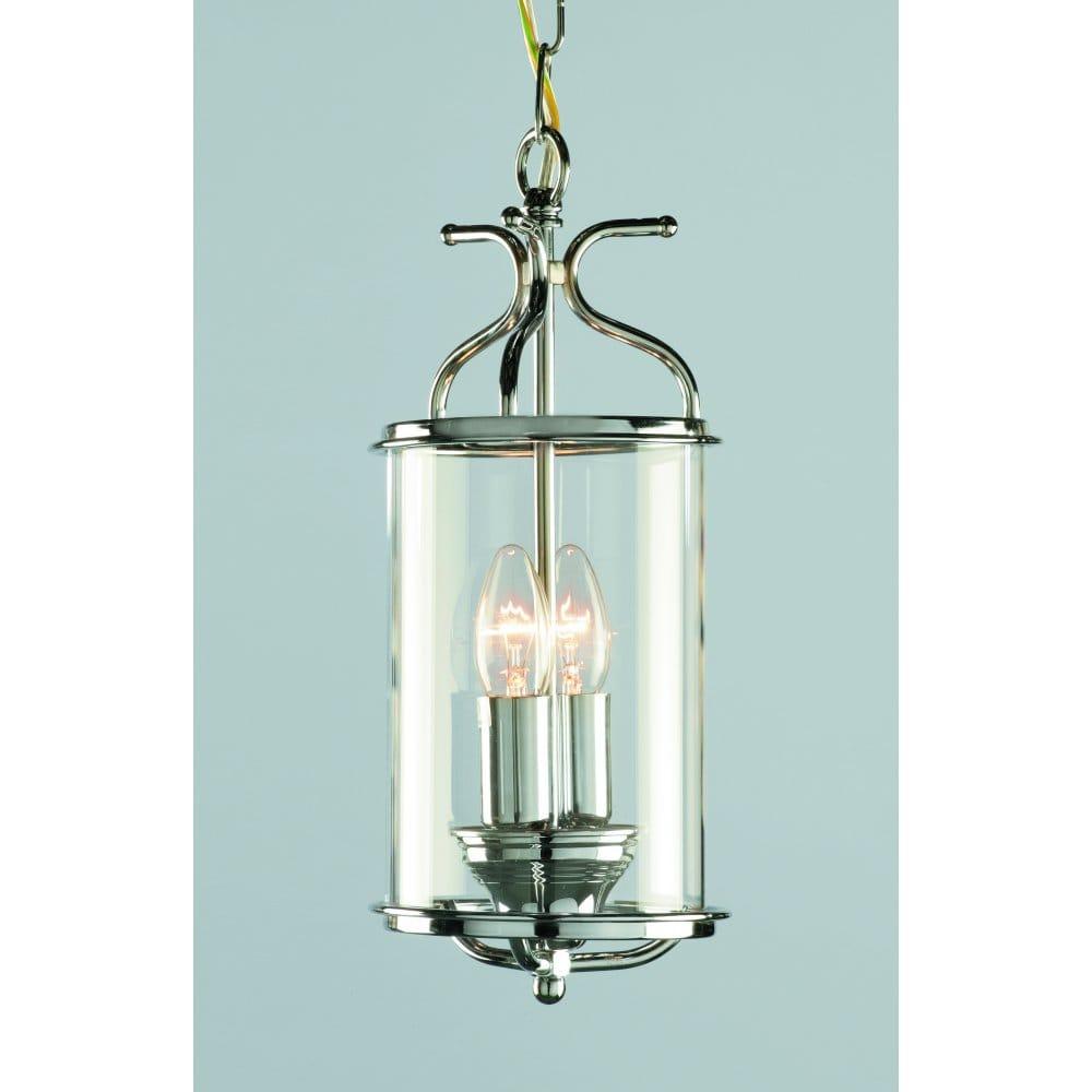 Impex Lighting Lg00029 Ch Winchester 2 Light Indoor Ceiling Lantern Pendant In Polished Chrome Finish Castlegate Lights