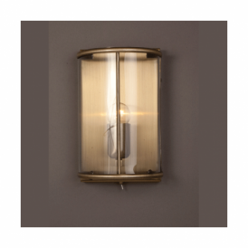 LG77130/WB/AB Orly Antique Brass Switched Wall Lantern