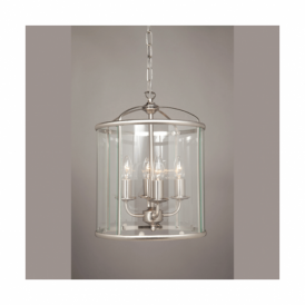 LG77134/SN Orly Satin Nickel 4 Light Ceiling Lantern