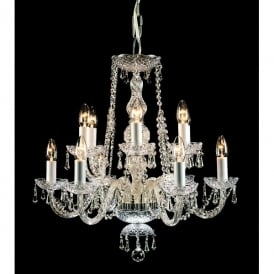 Modra 12 Light Georgian-Style Crystal Chandelier Fitting with Strass Crystal