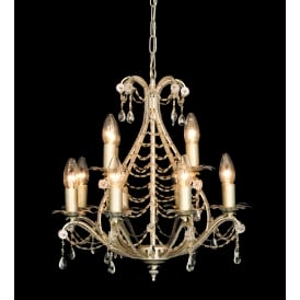 Montpellier 12 Light Ceiling Pendant In Antique Bronze Finish With Crystal Decoration