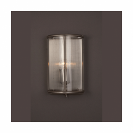 Orly Satin Nickel Switched Wall Lantern