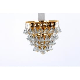 Parma Single Light Wall Fitting in Gold Finish with Crystal Detail