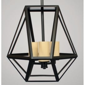 Riva 3 Light Ceiling Pendant in Black Finish