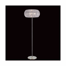 Rome Chrome, Crystal And Glass Floor Lamp