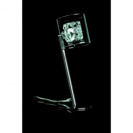 Sonja Single Light Table Lamp in Polished Chrome with Crystal Detail