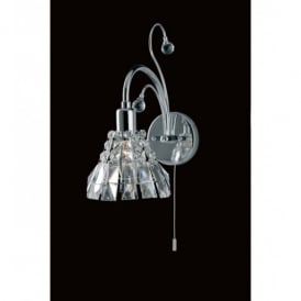 Strasbourg Lead Crystal And Chrome Single Switched Wall Light